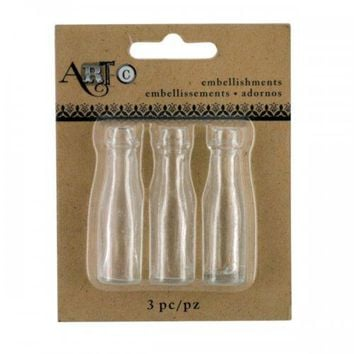 Mini Clear Craft Champagne Bottle Set