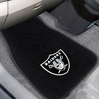Oakland Raiders 2pc Embroidered Car Mats