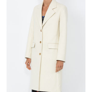 The Row Teymon Coat - White Cupro Coat