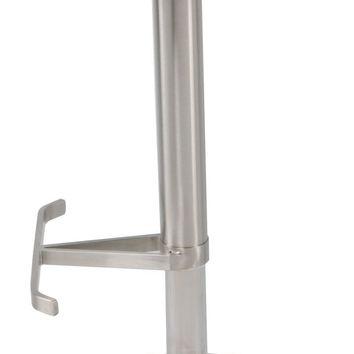Theon Round Premium Gaslift Bar Stool, Gray