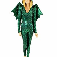 Green Dragon Catsuit (+Wings and Tail!)
