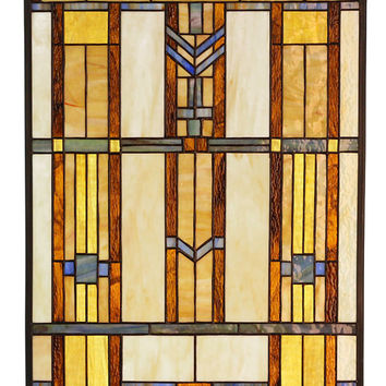 Arts and Crafts Prairie Stained Glass Panel 2
