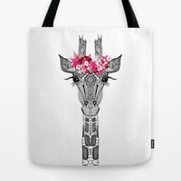 FLOWER GIRL Tote Bag by Monika Strigel