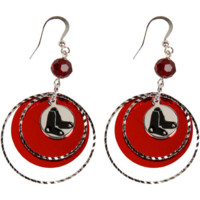 LogoArt Boston Red Sox Women's Mirrored Game Day Earrings - Silvertone/Red - http://www.shareasale.com/m-pr.cfm?merchantID=7124&userID=1042934&productID=525382544 / Boston Red Sox