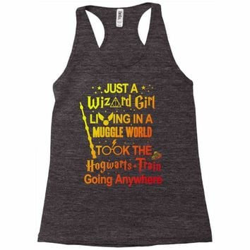 Just A Wizard Girl Living In A Muggle World Racerback Tank