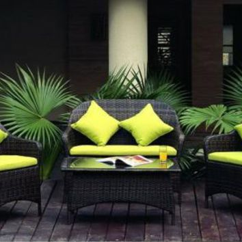 2017 rattan garden furniture lounge seating outdoor leisure sofa chairs