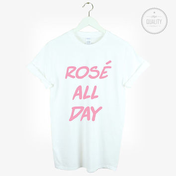 ROSE ALL DAY t-shirt shirt tee unisex mens womens cute funny hipster tumblr pinterest instagram blogger zoella *brand new