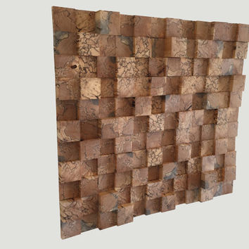 Extreme Wood Wall Art - Handcrafted from beuatiful, Spalted Maple end grain wood blocks makes this Very Unique & Very 3 Dimensional artwork.