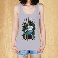 "jake game of thrones adventure time Tank, T Shirt, Tank Top, Women Tanktop, Tanktop T Shirt - Size Print (12""x12"")"