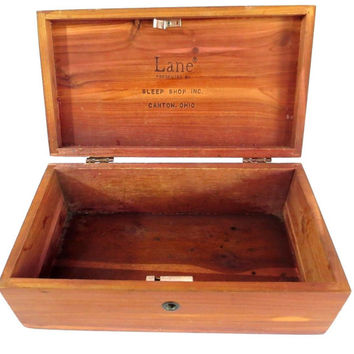 Vintage Lane Miniature Cedar Chest Jewelry Box Salesman Sample Sleep Shop Inc. Canton OH