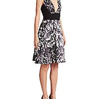 Prabal Gurung - Snow Leopard Cotton/Silk Duchesse Dress - Saks Fifth Avenue Mobile
