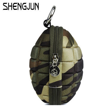 New Fashion Grenade Coin Purse Wallets Men Small Coin Bag Women PU Leather Bomb Key Holder Wallet WQB-174