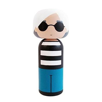 Lucie Kaas Andy Warhol Kokeshi Japanese Dolls: Home & Kitchen