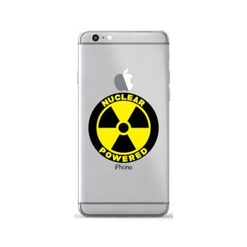 Nuclear Powered Decal Sticker Skin For iPhone 6 6s Plus Samsung Galaxy S7 Case Decal Sticker Macbook Air Sticker Laptop Decal Nuke Energy