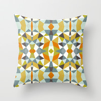 Safari Tribal Throw Pillow by Beth Thompson