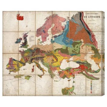 I liked this design on #Fab. De LEurope Map 1875 Canvas