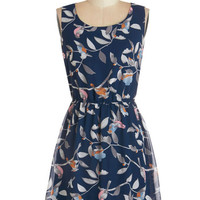 ModCloth Mid-length Sleeveless A-line Friends of a Feather Dress