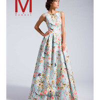 Preorder - MacDuggal 25186I Sky Blue Floral Long Ball Gown 2016 Prom Dresses