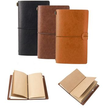 New Retro Leather Journal Tasks Vintage Handmade Refillable Traveler's Notebook Notepad Diary