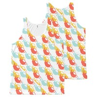 Teapots Multi Colored Pattern All-Over-Print Tank Top