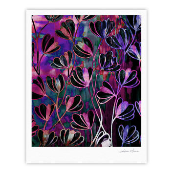 "Ebi Emporium ""Efflorescence - Mixed Berry"" Pink Purple Fine Art Gallery Print"