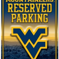 West Virginia Mountaineers Metal Parking Sign