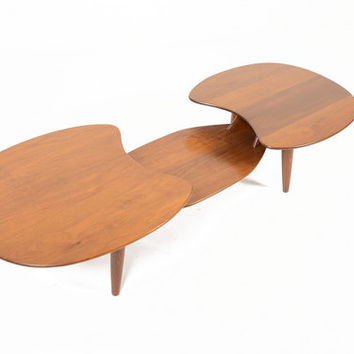 Mid Century Modern Prelude Solid Walnut Coffee Table by Ace High