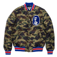 BAPE 1ST CAMO VARSITY LIGHT DOWN JACKET | Undefeated