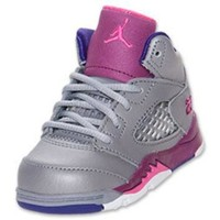 Girls' Toddler Air Jordan Retro 5 Basketball Shoes