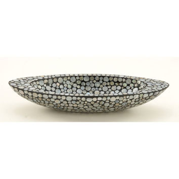 Benzara Astonishing Polystone Shell Bowl