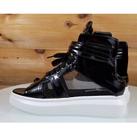 CR Forever 7 Black Platform Sneaker Sandal Open Back & Mesh Panel