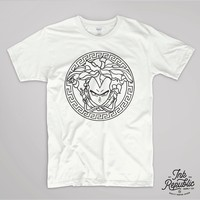 VEGETA VERSACE T SHIRT DRAGON BALL TUMBLR MANGA GOKU GEEK TOP GOHAN