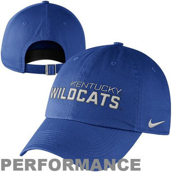 b55af545dab Nike Kentucky Wildcats Dri-FIT Heritage 86 Campus Adjustable Performance Hat  - Royal Blue