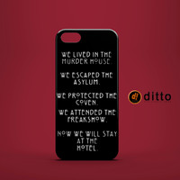 A AMERICAN HORROR STORY Design Custom Case for iPhone and Samsung Galaxy Phones
