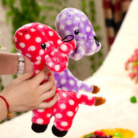 The Giraffe Plush Sound Toys Pet Dog Toys, Plush Toys Interactive Sound Toys, Purple and Red, Resistance to Bite, Free Shipping!