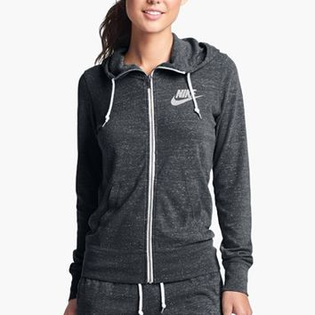 nike gym vintage full zip hoodie grey | Voted Best Nightclub in ...