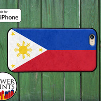Filipino Flag Philippines Pinoy Pinay Cool Accessory For Rubber iPhone 4 and 4s and iPhone 5 and 5s and 5c and iPhone 6 and 6 Plus +