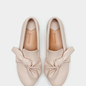 Slip ons with bow trim - SNEAKERS - WOMAN | Stradivarius United Kingdom