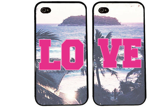 LOVE bff Case / Best Friends iPhone 4 from KasiaKases on Etsy