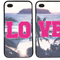 LOVE bff Case / Best Friends iPhone 4 Case Summer iPhone 5 Case iPhone 4S Case iPhone 5S Lyrics One For Your BFF Trendy PINK Island Hipster
