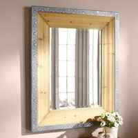 Decorative Galvanized Rimmed Mirror