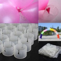 PEAPUG3 50 Decorative Easily Balloons Connectors Clips DIY Arches Wedding Party Prom = 1933176324