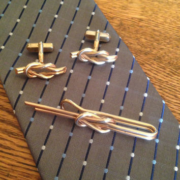 Tie Clip and Cuff Link Set by Swank