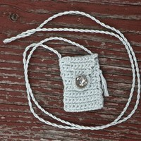Blue Moon - A Miniature, Handmade, Cotton Floss Spirit Pouch