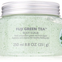 The Body Shop Fuji Body Scrub, Green Tea, 8.4 Fluid Ounce