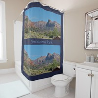 Mountain Zion National Park Shower Curtain