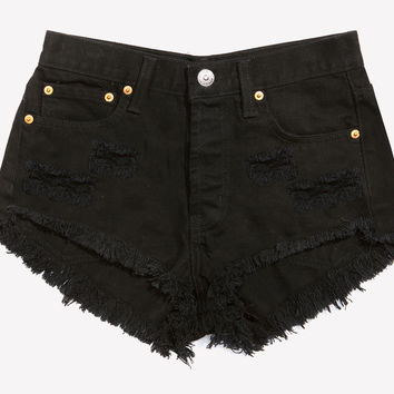 Keepers Cheeky Black Cut Off Shorts