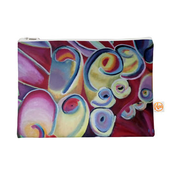 "Cathy Rodgers ""Groovy"" Rainbow Flowers Everything Bag"