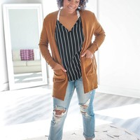 FREE TO FALL CARDIGAN - CAMEL