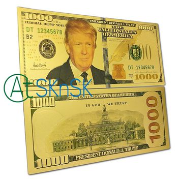 1PC's Melania Trump $500 Money Banknote, Mike Pence $50 Banknote, $100/$1000 Donald Trump Bill $100 US Gold Foil Dollar Banknote